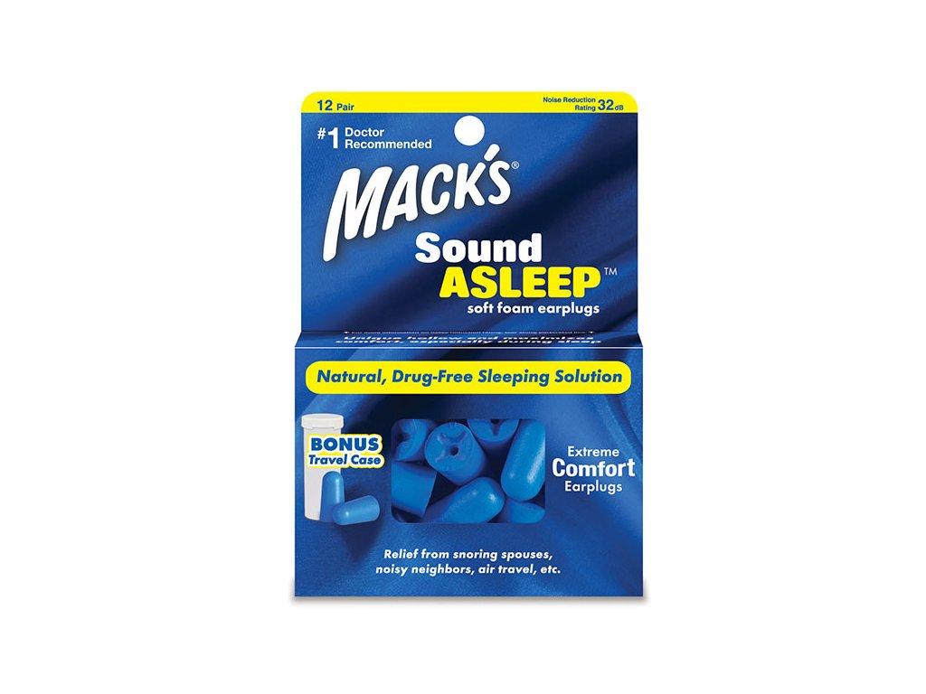Macks Sound Asleep Špunty do uší na spaní Earplugs cz