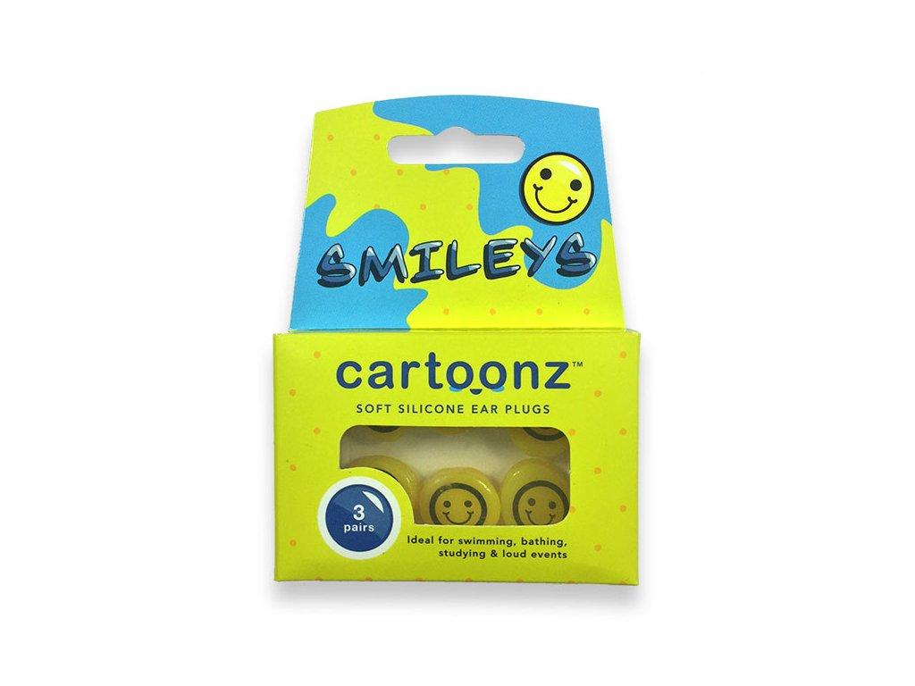 Cartoonz Smileys Silikonové špunty pro děti