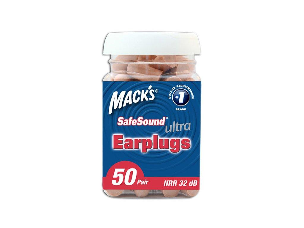 Mack's Ultra Soft super měkké pěnové špunty do uší 50 párů balení