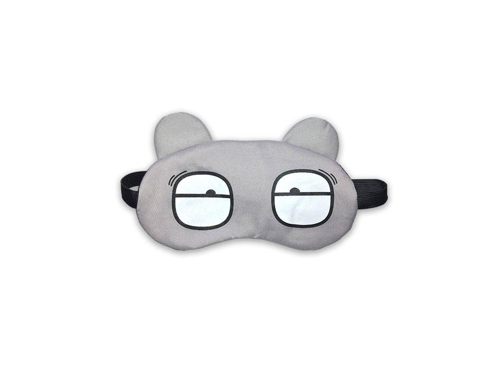 Dětská maska na oči na spaní Šedá uvavené oči s chladící vložkou