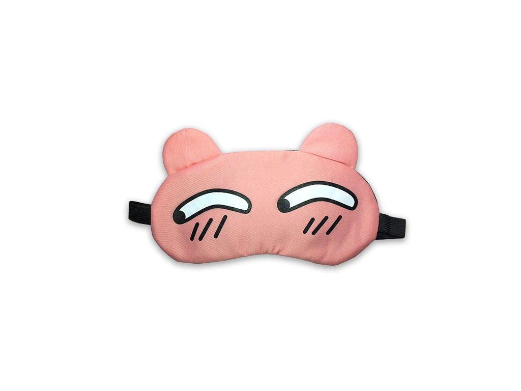 Dětská maska na oči na spaní Růžová podezřelé oči s chladící vložkou 2