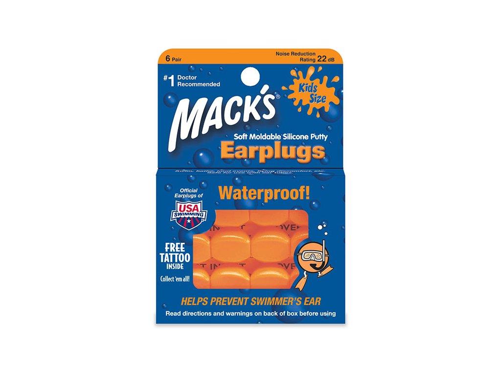 Mack's dětské měkké silikonové tvarovatelné špunty do uší