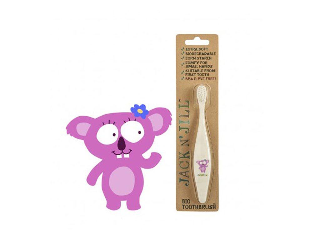 Jack N' Jill zubní kartáčky z kukuřičného škrobu pro děti Koala