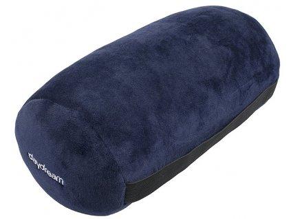 Daydream cestovní polštář váleček z mikrokuliček modrý