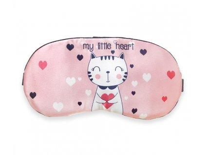 Maska na spaní kočka se srdcem my little heart