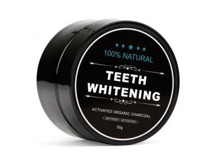 Bělící zubní pudr Charcoal 30g Teeth whitening s aktivním uhlím