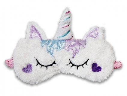 Maska na oči na spaní Jednorožec bílý