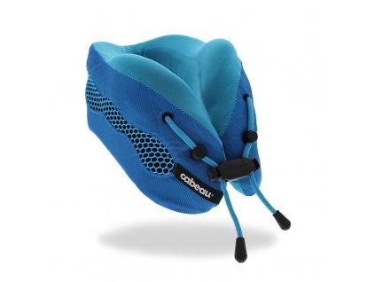 Cabeau Evolution Cool Modrý cestovní polštář z paměťové pěny z úhlu