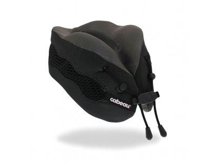 Cabeau Evolution Cool Černý cestovní polštář z paměťové pěny z úhlu