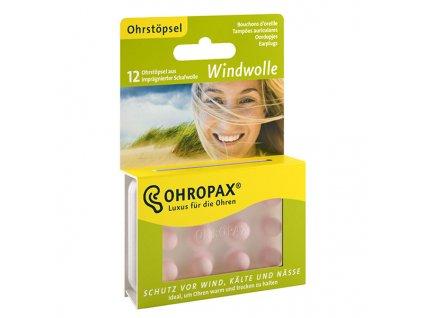 Ohropax Windwolle 6 párů Špunty do uší proti větru Earplugs cz