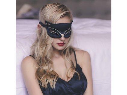 Kočíčí maska na spaní černá Earplugs