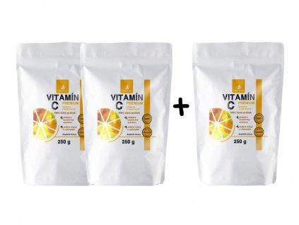 Allnature Vitamín C prášek Premium 250g 2 plus 1 zdarma
