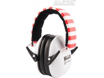 Alpine Muffy Bílá Chrániče sluchu pro děti sluchátka Earplugs cz
