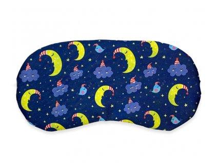 Maska na oči na spaní měsíc a mráčky modrá
