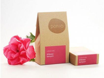 Ponio kopřirový tuhý šampon růžová alej krabičky