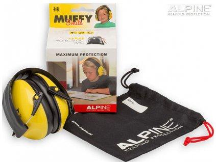Alpine Muffy Smile Chrániče sluchu pro děti sluchátka obsah balení Earplugs cz