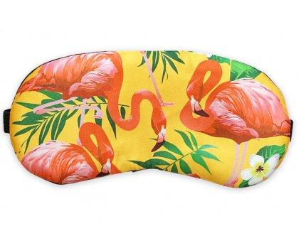 Maska na oči na spaní Hawai plameňáci