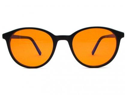 Brýle proti modrému světlu Toby černá oranžová skla zepředu