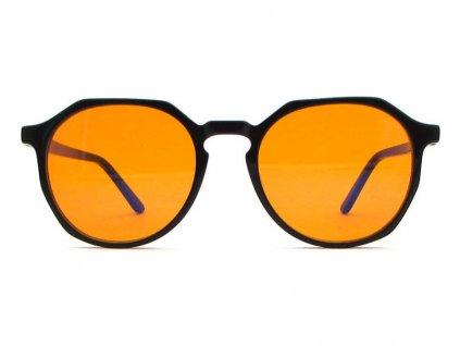 Brýle proti modrému světlu Mosaic černé oranžová skla zepředu