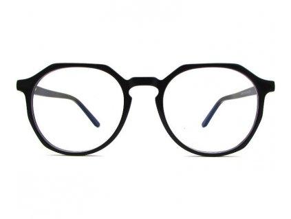 Brýle proti modrému světlu Mosaic černé průhledná skla zepředu