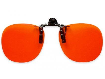 Oranžové klipy proti modrému světlu na brýle