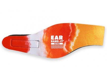 Ear band it Ultra batikovaná čelenka na plavání oranžová