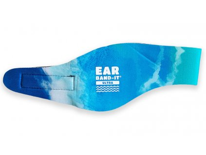 Ear band it Ultra batikovaná čelenka na plavání tyrkysová
