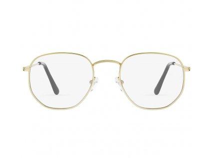 D.Franklin brýle blokující modré světlo Hexagon zlatá