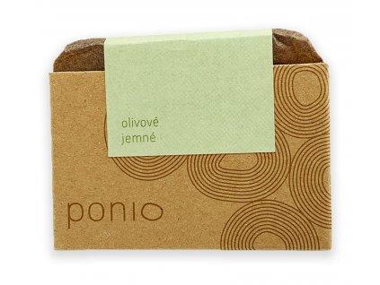 Olivové jemné mýdlo Ponio bílé pozadí