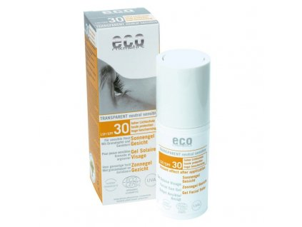 Eco Cosmetics Opalovací transparentní gel na obličej SPF 30 (30ml)
