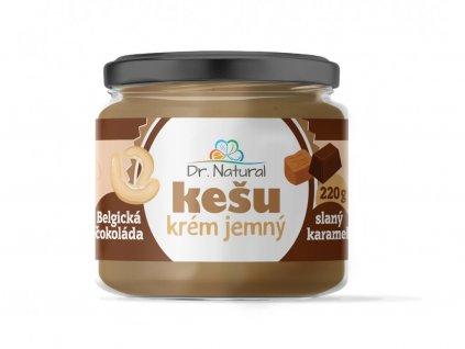 Dr. Natural Kešu krém jemný belgická čokoláda slaný karamel 220 g