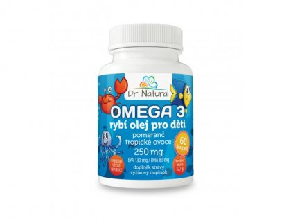 Dr. Natural Omega 3 rybí olej pro děti 250 mg 60 tablet