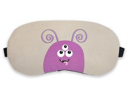Maska na oči na spaní příšerka růžová