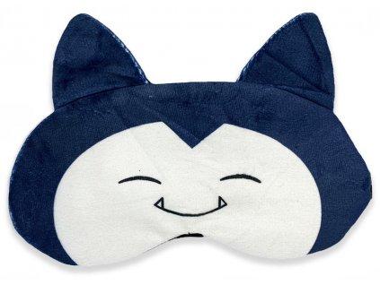 Maska na oči na spaní modrý bílý spáč