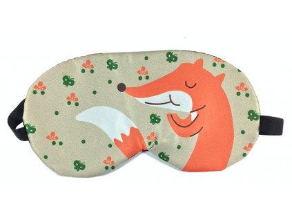 Maska na oči na spaní Liška