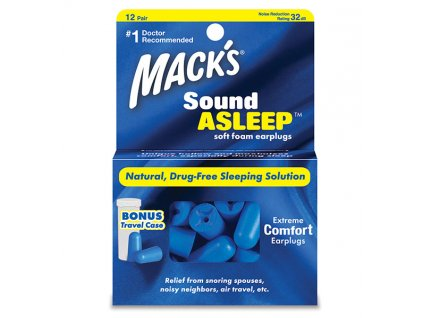 Macks Sound Asleep Špunty do uší na spaní Earplugs cz
