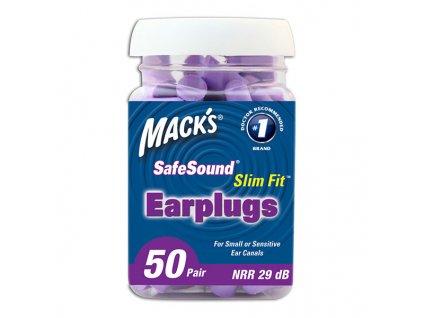 Mack's Slim Fit pěnové špunty pro úzké ušní kanálky 50 párů