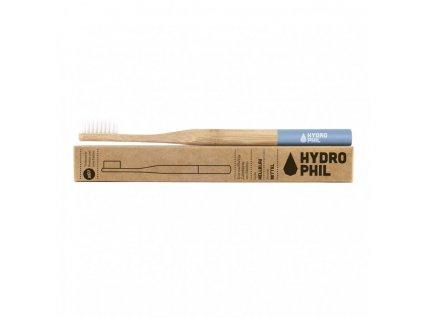 Hydrophil dřevěný zubní kartáček Medium Modrý