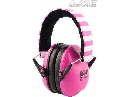 Alpine Muffy Růžová Chrániče sluchu pro děti sluchátka Earplugs cz