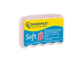 Ohropax Soft 10 párů pěnové špunty do uší 32 dB