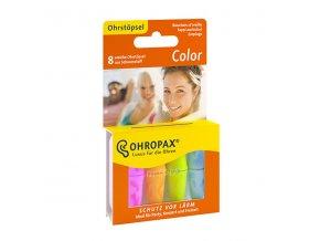 Ohropax Color barevné pěnové špunty do uší 8 kusů