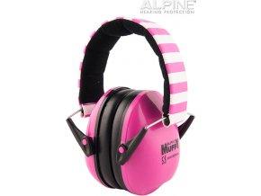 Alpine Muffy růžová chrániče sluchu pro děti z boku