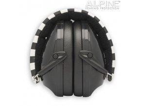 Alpine Muffy černá chrániče sluchu pro děti z boku