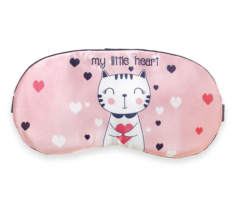 Maska na spaní Kočka se srdcem