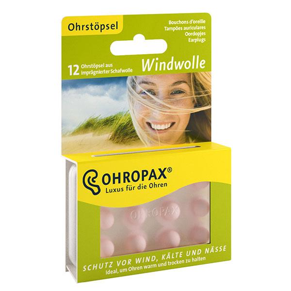 Ohropax Windwolle 6 párů Špunty do uší