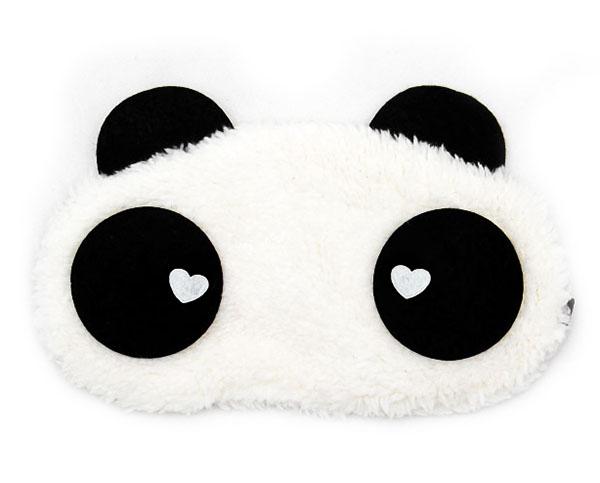 Panda Srdce Maska na oči na spaní