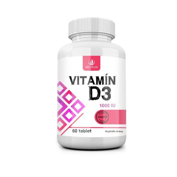 Allnature Vitamín D3 - 1000 IU - 60 tbl.