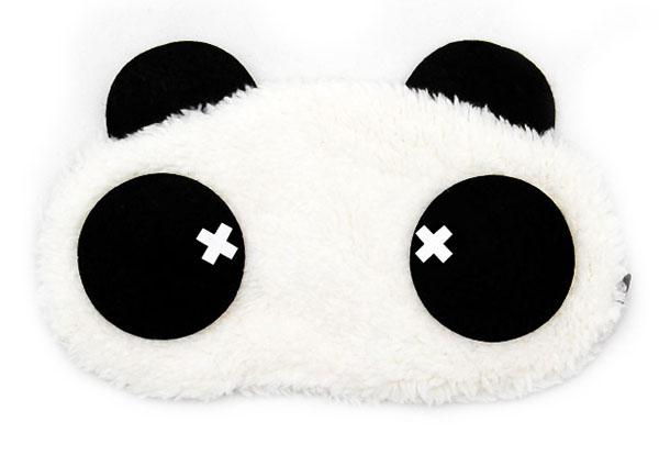 Panda Křížek Maska na oči na spaní