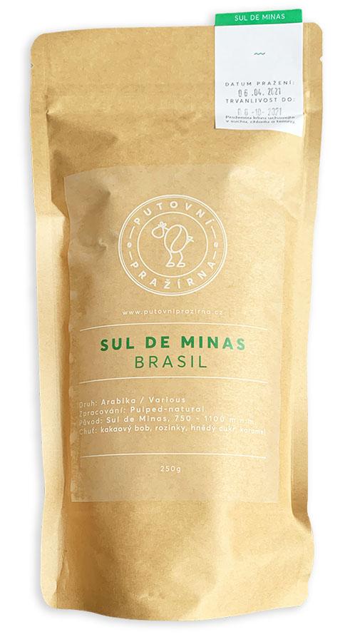 Sul De Minas Brasil zrnková káva 250g