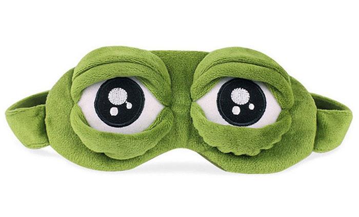 Maska na oči na spaní Žába